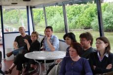 On the Danube: Adnan Huskiæ, Kriza Borbála, Valon Veliqi, Ivayla Arabadzhieva, Noa Treister, Frank Burgdörfer, Ljubica Djordjeviæ